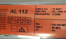 2,0 Kg Electrodos Aluminio 4047 Soldadura al Arco 2,5 x350mm ALSi12 Werks 3.2585