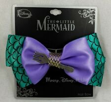 Disney Little Mermaid Ariel Ribbon Fork Bow Tie Hair Clip Pin Costume Dress Up