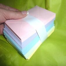 Floristry Card Envelopes 100 Candy Colours 5 Pastel coloured 11cm x 7cm  paper