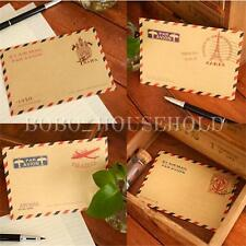 Set Of 10 Mini Small Vintage European Airmail Envelope Greeting Cards Stationery