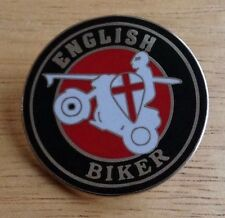 English Biker Enamel Pin Badge Of Outlaw Motorcycle Cafe Racer Rocker pirate
