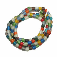 African Beads Recycled Glass Ghana Krobo Ethinc Round 8 mm Multi Colours 30pack