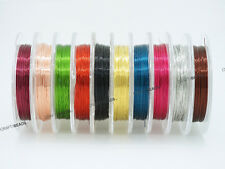 0.3mm Copper French Color Coated Beading Craft Wire 28 Gauge -Assorted 10 Spools