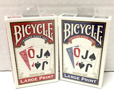 Bicycle Large Print Playing Cards - Standard Size Poker Cards -  NEW SET