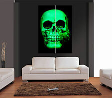 GREEN SKULL HOLDING ROSE GOTHIC HORROR Giant Wall Art Print Picture Poster