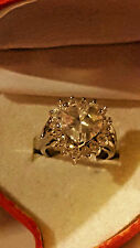 LARGE 2.5 HEART CZ PRINCE RING W/ 16 STONES valentine day W/HEART GIFT BOX SZ 8