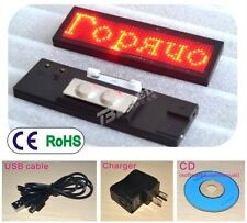 Mini LED Programmable Scrolling Moving Name Badge Tag Sign Message with adapter