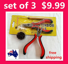 Hair Extension Professional Tool -- Pliers + One Free Hook + 200 Micro Beads  S