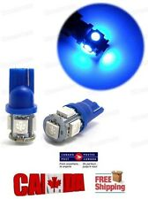 New 2x Blue  LED T10 5SMD 5050 SMD Bulbs Side Light 194 168 W5W Wedge