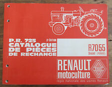 ANCIEN CATALOGUE PIECES DE RECHANGE TRACTEUR RENAULT 1966 R7055 DIESEL