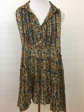 Free People Floral Layered Sleeveless Tunic Small *2811