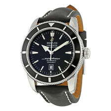 Breitling Superocean Heritage 46 Automatic Black Leather Mens Watch A1732024-B86