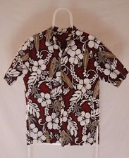 KY's Hawaiian Shirt Size Large Hibiscus Flowers with Surf Boards made in Hawaii