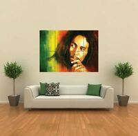 BOB MARLEY IN RASTA COLORS NEW GIANT POSTER WALL ART PRINT PICTURE G430