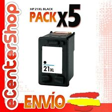 5 Cartuchos Tinta Negra / Negro HP 21XL Reman HP PSC 1410 XI
