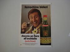 advertising Pubblicità 1971 FERROCHINA FERRO CHINA BISLERI