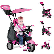 Smart Trike Glow Spark Touch Steering 4in1 Tricycle Baby Ride On Stroller Pink