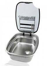 SPINFLO COMPLETE KITCHEN CENTRE CARAVAN MOTORHOME SINK WITH LID & DRAINAGE RACK