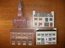 1993 Cat's Meow St Charles Christmas 4 Pc Set RETIRED Lewis Clark St Peters etc