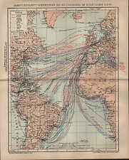 Landkarte map 1904: DAMPFSCHIFFAHRTS-VERBINDUNGEN DES WELTVERKEHRS ATLANTIK.