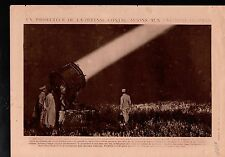 WWI Projector Projecteur Défense Avions Plane DCA/Red Cross 1918 ILLUSTRATION