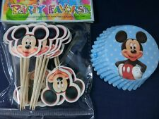 24 sets Cupcake Cup Cake Decorating,Toppers and Wrappers PARTY , Mickey Mouse
