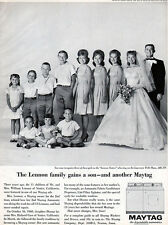 Maytag Wedding Picture WASHERS & DRYERS Lennon Sisters BRIDES MAIDS 1964 Ad