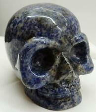 Amazing Hand Carved Dumortierite(Lapis Lazuly family) Crystal Skull Paperweight