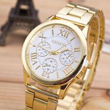Hot Womens Watch Ladies Roman Numerals Quartz Stainless Steel Geneva Wrist Watch