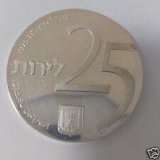 Israel Old Silver Coin 25 Lira 1975 year 25 years State of Israel Bond 29 Gram