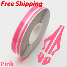 "1/2"" Streamline Pin Stripe Pinstriping 12mm Tape Vinyl Decal Sticker Car Pink"