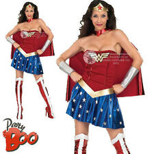 Wonder Woman Uk 8 10 señoras superhéroe Fancy Dress Adultos Dc Comics Disfraz