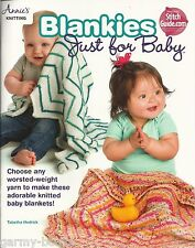Blankies Just for Baby Blankets Knitting Instruction Patterns Annie's Attic NEW