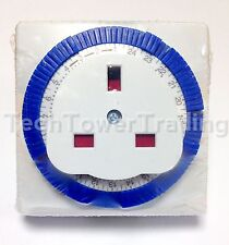 3 X 24 HOUR TIMER 24HR 3 PIN MECHANICAL SOCKET MAINS PLUG IN TIMER SWITCH