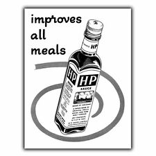 HP SAUCE Vintage Retro Advert METAL WALL SIGN PLAQUE Print Kitchen Cafe