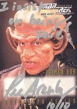 Star Trek The Next Generation Season 7 A17 Lee Arenberg Autograph VARIANT 10/10!