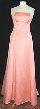 GORGEOUS ALFRED ANGELO SWEEPING STATEMENT STRAPLESS PEACH EVENING GOWN 10