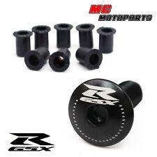 Black GSX-R Logo Fairing bolts GSXR 600 750 1000 01 02 03 04 05 06 07 08 09 10