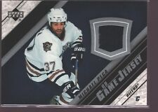 MICHAEL PECA 2005-06 UD UPPER DECK GAME USED WORN JERSEY PATCH SP OILERS $12