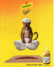 PUBLICITE ADVERTISING 075  2001  SCHWEPPES LIGHT  INDIAN TONIC
