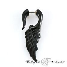 Horn Fake Ohr Piercing - Expander Ohrring Spirale cheater Engels Flügel