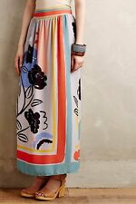 NWT Anthropologie Plein Air Maxi by Maeve, Sz M, Floral Flowy Abstract Painting