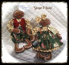"""~Primitive Gingerbread Dolls PATTERN ~ """"Ginger & Snap""""~Ginger Creek Crossing"""