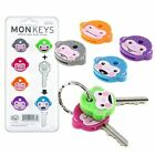Fred and Friends Cute Monkey Cool Chimp Key Cap Covers Six Color Keychain Set