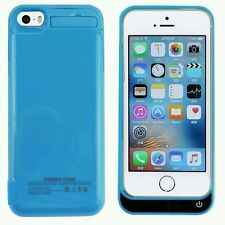 iPhone 5 5C 5S External Portable Power Bank Backup Battery Charger Case Blue