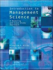 Introduction to Management Science: A Modeling and Case Studies Approach with...