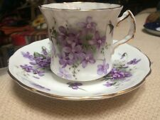 Hammersley Spode, Victorian Violets, Teacup & Saucer, English Bone China