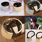 Hot Punk Rock Metal Circle Ring Hair Cuff Wrap Ponytail Holder Band 2 Colors