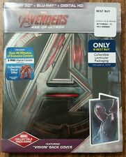 Avengers: Age of Ultron Blu-ray Disc, Digital HD; 3D; VISION STEELBOOK *SEALED*