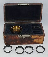 Emil Busch Rathenow 5 Piece Casket Brass Lens Set in Original Box